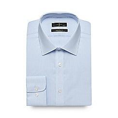 J by Jasper Conran - Blue dobby texture tailored fit shirt