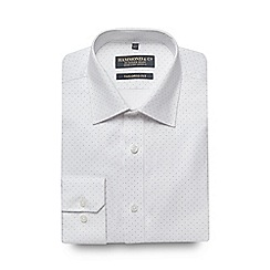 Hammond & Co. by Patrick Grant - White textured sport print tailored shirt