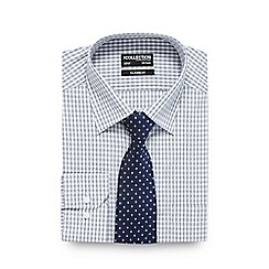 The Collection - Grey button down shirt and diamond print tie