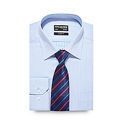 The Collection - Blue button down shirt and stripe tie