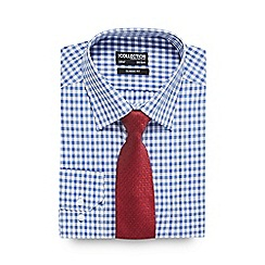 The Collection - Blue button down shirt and red tie