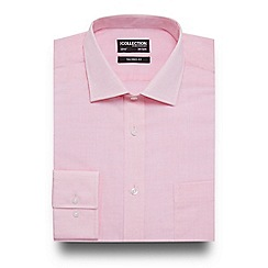 The Collection - Big and tall light pink textured tailored fit shirt