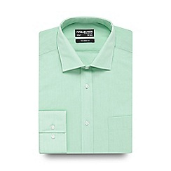 The Collection - Light green textured tailored fit shirt
