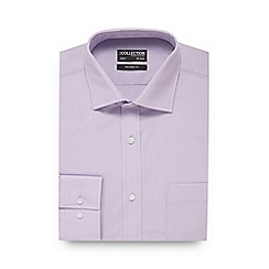 The Collection - Big and tall light purple textured tailored fit shirt
