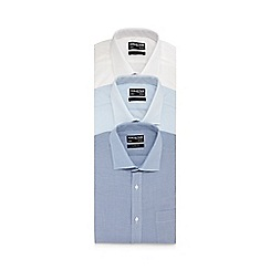 The Collection - Pack of three blue long sleeve button down shirts