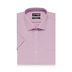 The Collection - Big and tall light pink short sleeved shirt