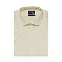 The Collection - Big and tall cream short sleeved shirt