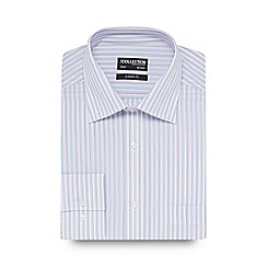 The Collection - Big and tall white and blue striped shirt