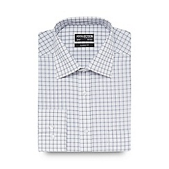 The Collection - Big and tall white large square checked print regular fit shirt