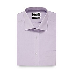The Collection - Big and tall lilac short sleeved regular fit shirt