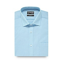 The Collection - Big and tall aqua textured regular fit shirt
