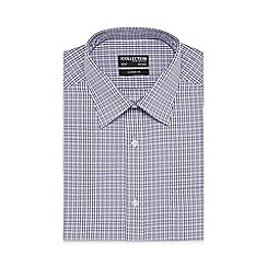 The Collection - Big and tall purple striped diamond print shirt