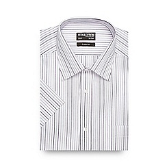 The Collection - Big and tall purple striped print regular fit shirt