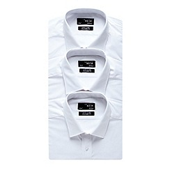 Thomas Nash - Big and tall white tailored fit triple pack