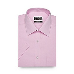 The Collection - Big and tall pink textured short sleeved shirt