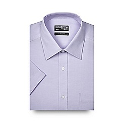 The Collection - Big and tall lilac textured short sleeved shirt