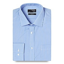 Thomas Nash - Blue fine striped shirt
