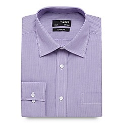 Thomas Nash - Big and tall lilac striped long sleeved shirt