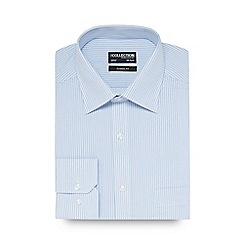 The Collection - Big and tall blue striped print regular fit shirt