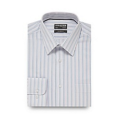The Collection - White and blue striped tailored fit shirt