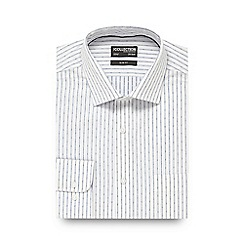 The Collection - Blue striped slim fit shirt