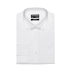 The Collection - White button down tailored fit shirt