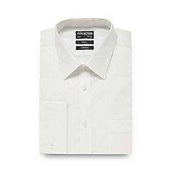 The Collection - Big and tall white cotton stretch slim fit shirt