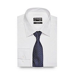 The Collection - White textured regular fit shirt with a tie