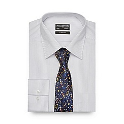The Collection - White striped print regular fit shirt