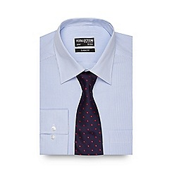 The Collection - Blue striped regular fit shirt