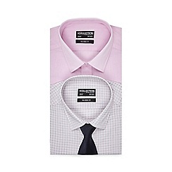 The Collection - Big and tall set of two assorted patterned tailored fit shirts with a blue tie