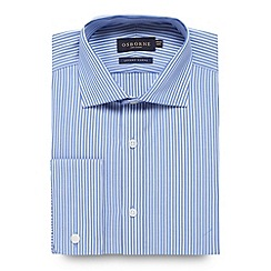 Osborne - Big and tall blue tailored fit twill striped shirt