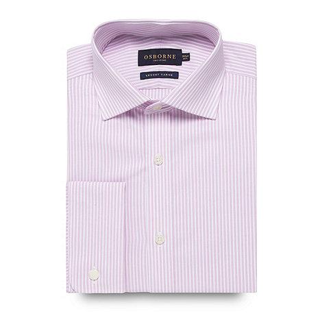 Osborne - Pink fine striped clustered shirt