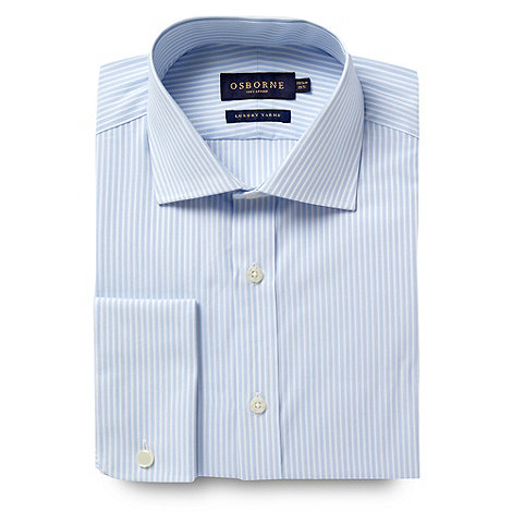 Osborne - Blue fine striped clustered shirt