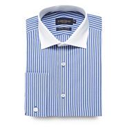 Big and tall blue bold striped shirt