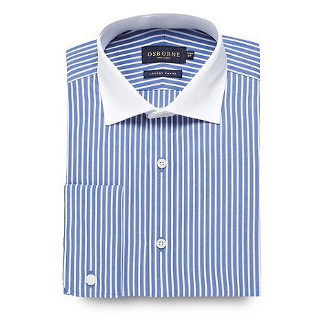 Osborne - Blue bold striped shirt
