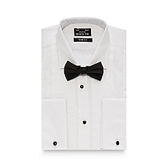 Black Tie - White pleated shirt and bow tie set