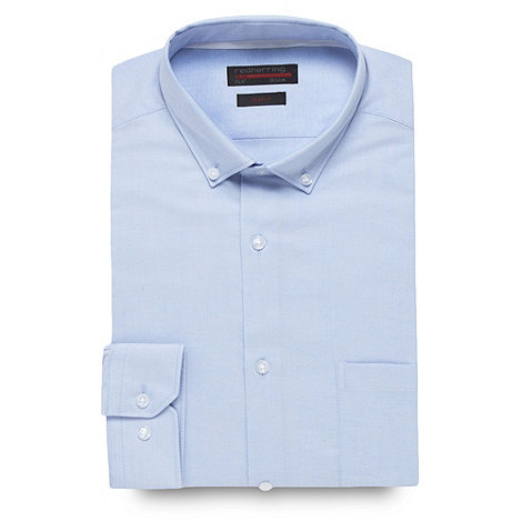 Red Herring Red Line - Blue slim fit oxford Slim fit shirt