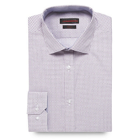 Red Herring Red Line - Purple diamond geo patterned Slim fit shirt