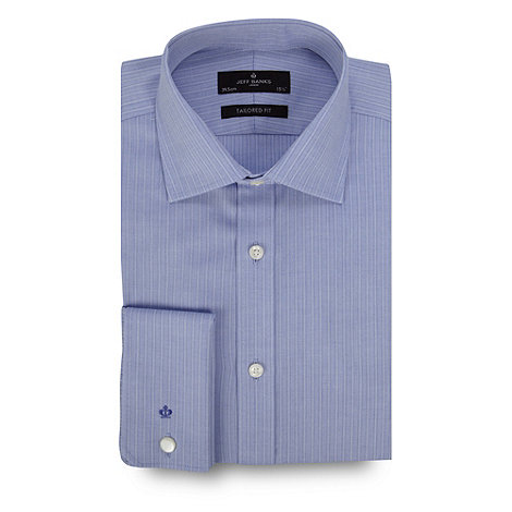 Jeff Banks - Designer blue textured stripe shirt