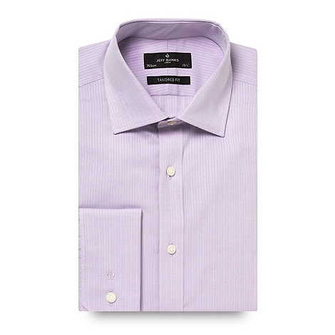 Jeff Banks - Designer lilac textured stripe shirt