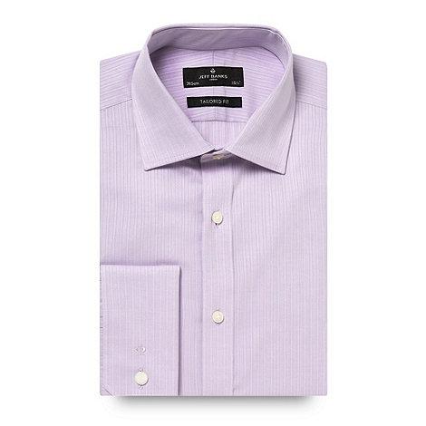 Jeff Banks - Designer lilac textured stripe shirt