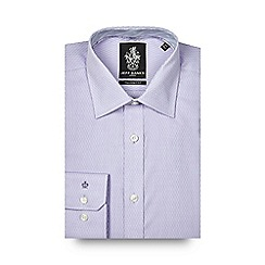 Jeff Banks - Big and tall lilac diamond textured tailored fit shirt