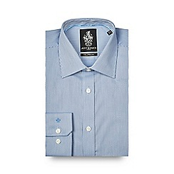 Jeff Banks - Blue textured tailored fit shirt