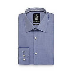 Jeff Banks - Blue textured slim fit shirt