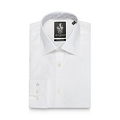 Jeff Banks - Big and tall white textured tailored fit shirt