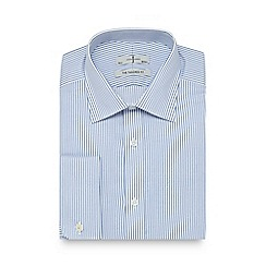 J by Jasper Conran - Big and tall blue striped tailored fit shirt