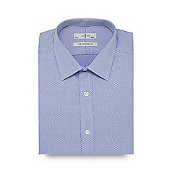 J by Jasper Conran - Blue dotted slim fit shirt