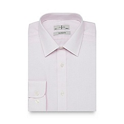 J by Jasper Conran - Big and tall light pink dotted slim fit shirt