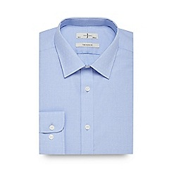 J by Jasper Conran - Big and tall blue textured slim fit shirt